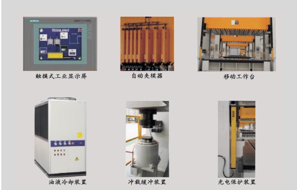 3000吨金属拉伸框架式液压机选配装置