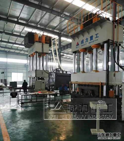 2500吨玻璃钢化粪池液压机,三梁四柱液压拉伸机